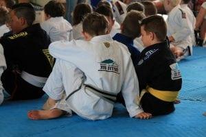 Kids on mat